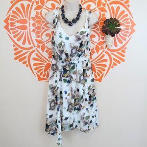 Anthropologie Meadow Rue White Dress w/Gemstones